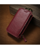 FLOVEME Zeal Red Leather Mobile Wallet Case